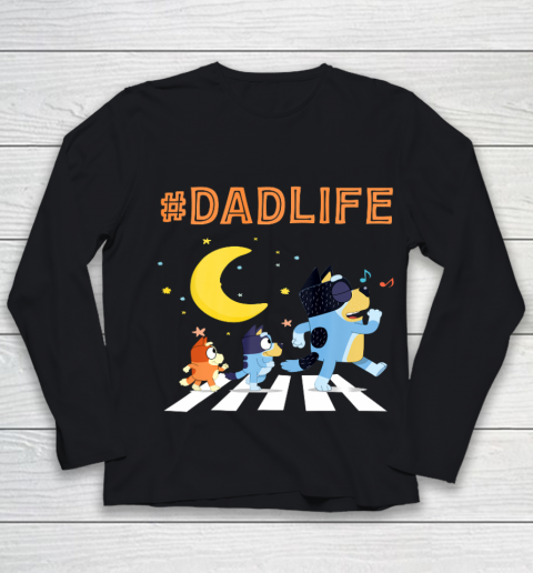 Bluey Dad Family Lover In My Life Youth Long Sleeve