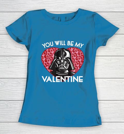 Star Wars You Will Be My Valentine Darth Vader Women's T-Shirt 6