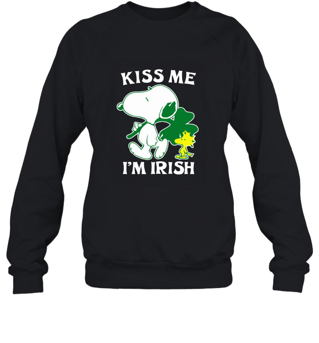 Snoopy And Woodstock Kiss Me Im Irish St. Patricks Day Sweatshirt