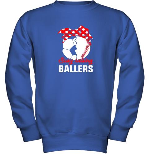8dow busy raising a ballerfunny baseball soccer mom youth sweatshirt 47 front royal