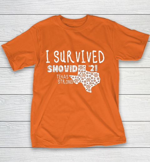 I Survived Snovid 21 Winter 2021 Texas Strong Youth T-Shirt 4