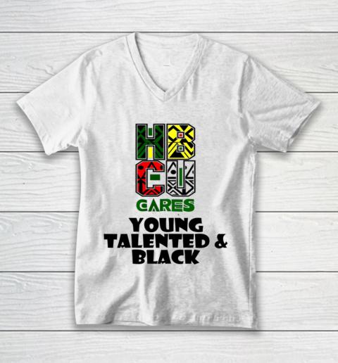 HBCU Cares College University Graduation Gift Black Schools Shirt V-Neck T-Shirt