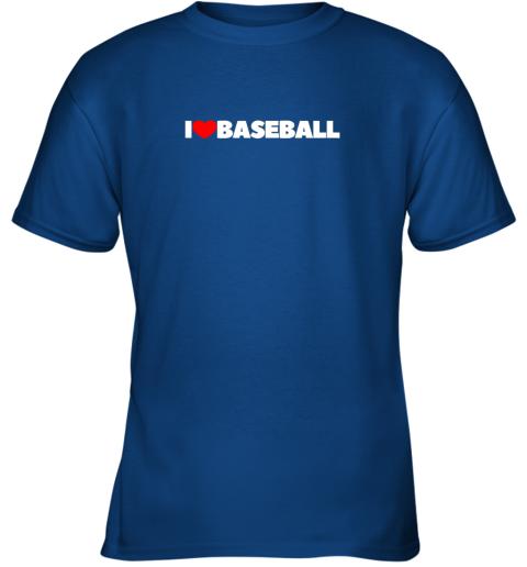 12vp i love heart baseball youth t shirt 26 front royal