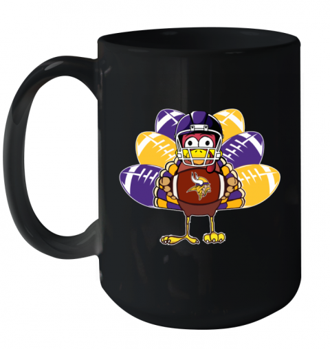 Minnesota Vikings  Thanksgiving Turkey Football NFL Ceramic Mug 15oz