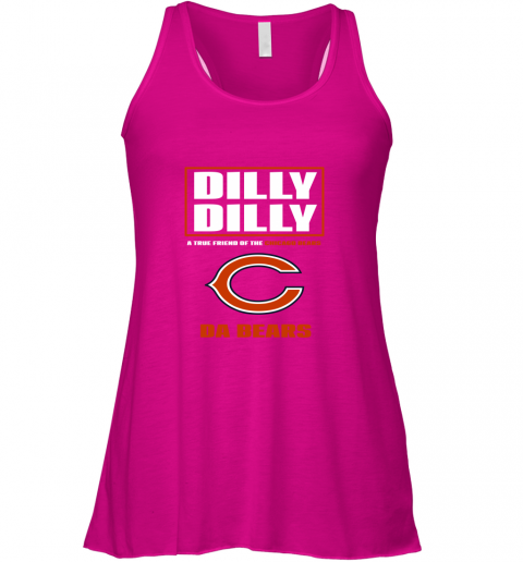 75j7 dilly dilly a true friend of the chicago bears flowy tank 32 front neon pink