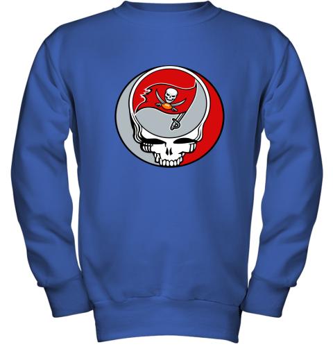 dwmc nfl team tampa bay buccaneers x grateful dead youth sweatshirt 47 front royal