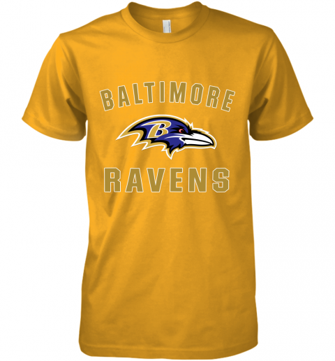 bns3 mens baltimore ravens nfl pro line by fanatics branded gray victory arch t shirt premium guys tee 5 front gold