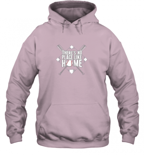 oelz there39 s no place like home baseball tshirt mom dad youth hoodie 23 front light pink