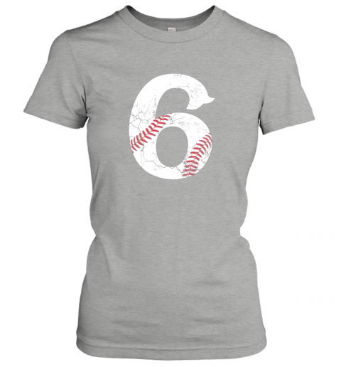 q3dg kids happy birthday 6th 6 year old baseball gift boys girls 2013 ladies t shirt 20 front ash