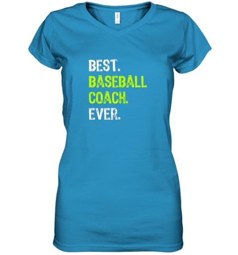 yk4o best baseball coach ever funny gift women v neck t shirt 39 front sapphire