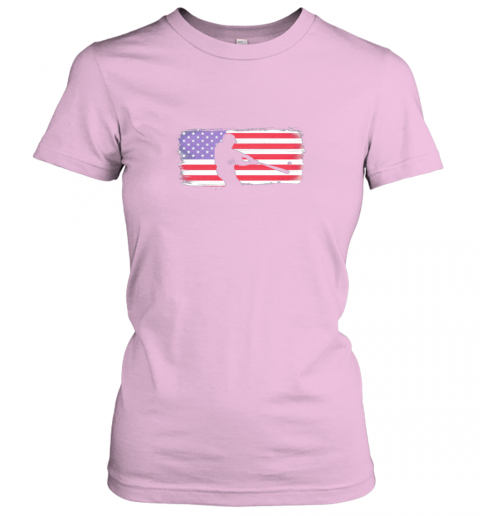 vovp usa american flag baseball player perfect gift ladies t shirt 20 front light pink