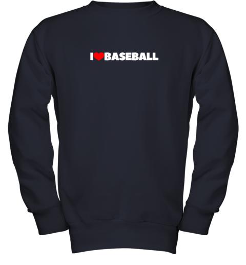 valw i love heart baseball youth sweatshirt 47 front navy