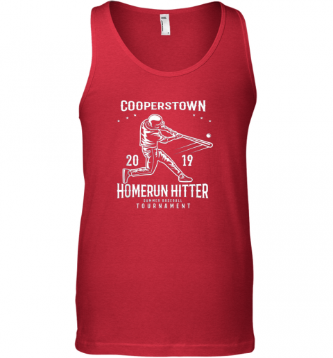ixo1 cooperstown home run hitter unisex tank 17 front red
