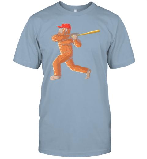 dtdx bigfoot baseball sasquatch playing baseball player jersey t shirt 60 front light blue