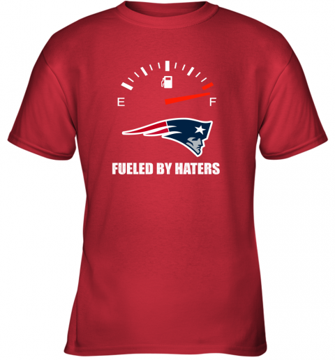 kulz fueled by haters maximum fuel new england patriots youth t shirt 26 front red