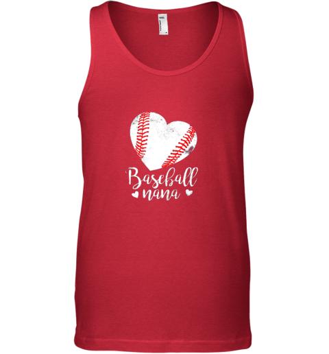 insb funny baseball nana shirt gift for men women unisex tank 17 front red