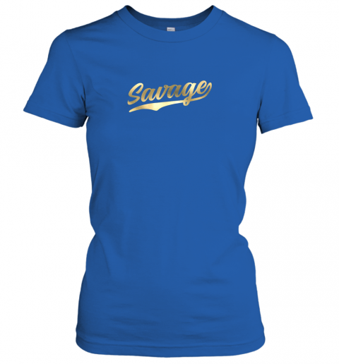 zxia savage shirt retro 1970s baseball script font ladies t shirt 20 front royal