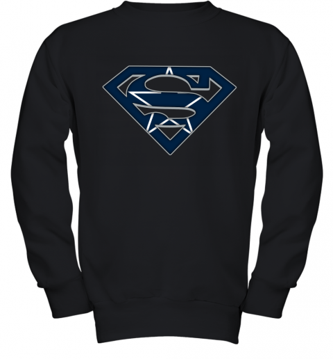 We Are Undefeatable The Dallas Cowboys x Superman NFL Youth Sweatshirt