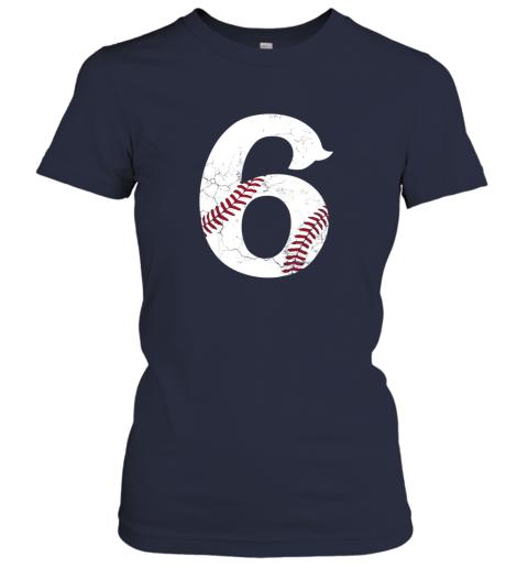 q3dg kids happy birthday 6th 6 year old baseball gift boys girls 2013 ladies t shirt 20 front navy