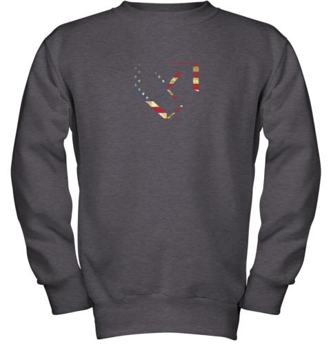 fip7 home plate baseball bats american flag shirt baseballin youth sweatshirt 47 front dark heather