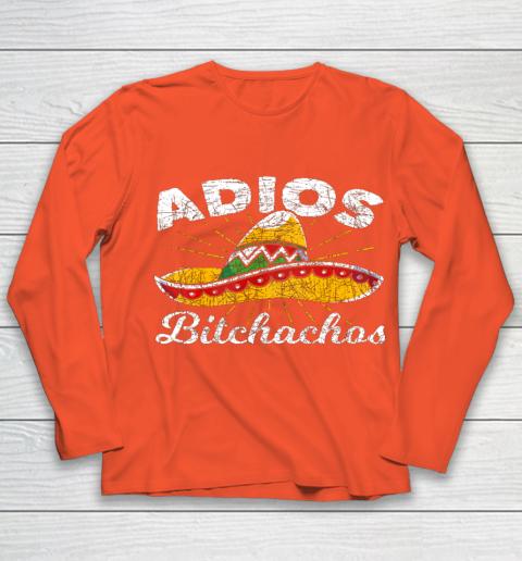 Adios Bitchachos Sombrero Fiesta Mexico Funny Cinco De Mayo Youth Long Sleeve 3
