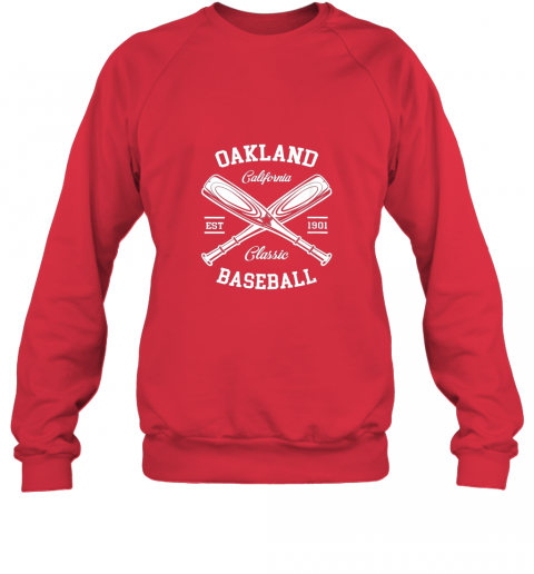 dd2l oakland baseball classic vintage california retro fans gift sweatshirt 35 front red
