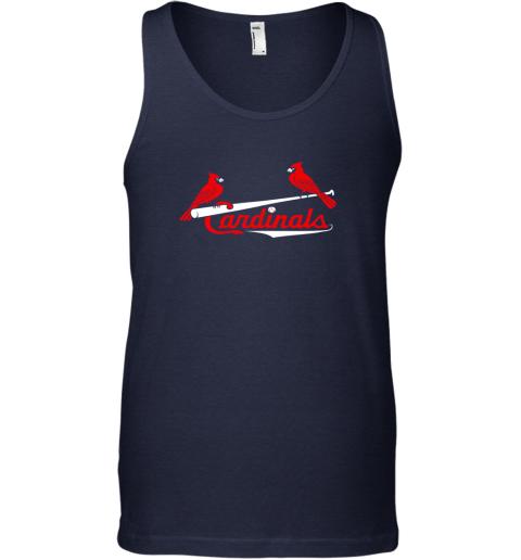 woos cardinal sports shirtst louis baseball fan unisex tank 17 front navy