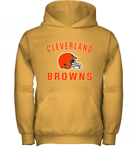 r6zh cleveland browns nfl line by fanatics branded brown victory youth hoodie 43 front gold