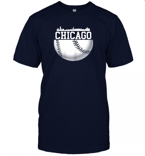 vluh vintage downtown chicago shirt baseball retro illinois state jersey t shirt 60 front navy