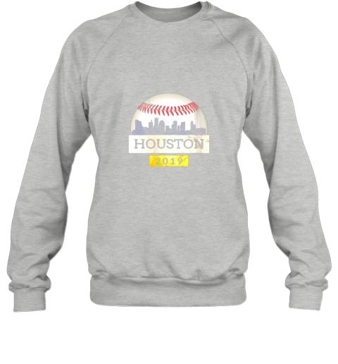 ve1t houston baseball shirt 2019 astro skyline on giant ball sweatshirt 35 front sport grey
