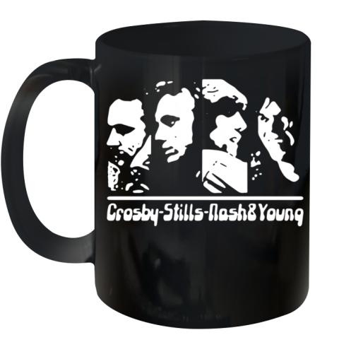 Folk Music Stephen Stills Crosby Nash Ceramic Mug 11oz