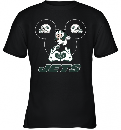 I Love The Jets Mickey Mouse New York Jets Youth T-Shirt