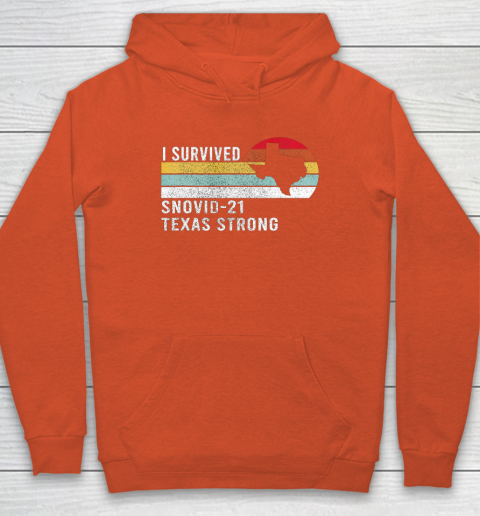 I Survived Snovid 21 Texas Strong Vintage Retro Design Hoodie 3