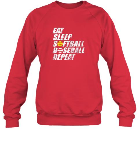 0sow softball baseball repeat shirt cool cute gift ball mom dad sweatshirt 35 front red