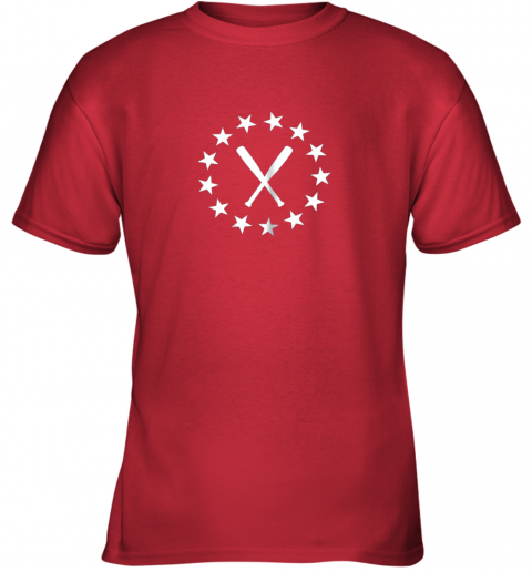 kuby baseball with bats shirt baseballin player gear gifts youth t shirt 26 front red