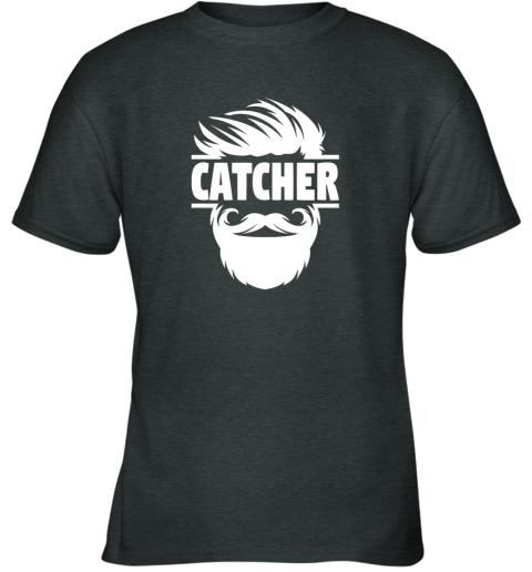 jc4s bearded baseball catcher youth t shirt 26 front dark heather