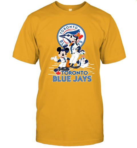 k5yu toronto blue jays mickey donald and goofy baseball jersey t shirt 60 front gold