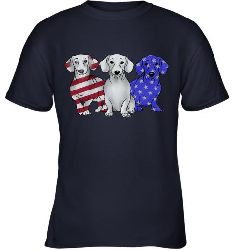 Dachshund American Flag Youth T-Shirt