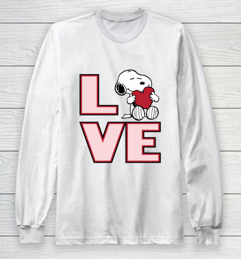 Peanuts Valentine Snoopy Love Long Sleeve T-Shirt