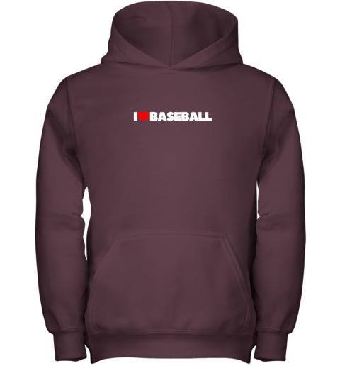 pymg i love heart baseball youth hoodie 43 front maroon
