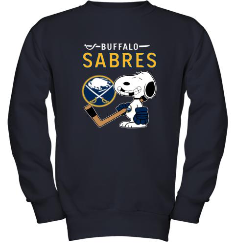 Buffalo Sabres Ice Hockey Broken Teeth Snoopy NHL Youth Sweatshirt