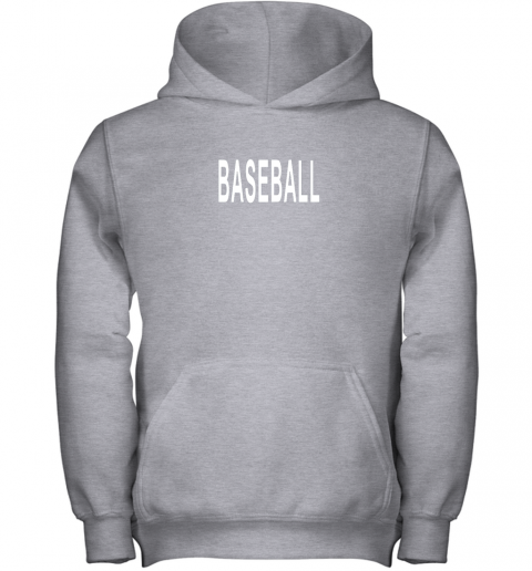 krcn shirt that says baseball youth hoodie 43 front sport grey