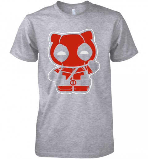 i3nq hi yukio marvel deadpool hello kitty shirts premium guys tee 5 front heather grey