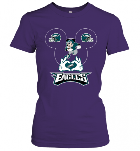 jhmm i love the eagles mickey mouse philadelphia eagles ladies t shirt 20 front purple