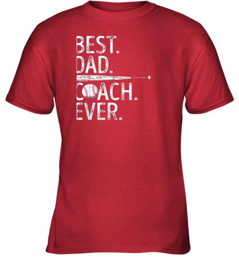 2gms mens best dad coach ever t shirt baseball fathers day gift youth t shirt 26 front red