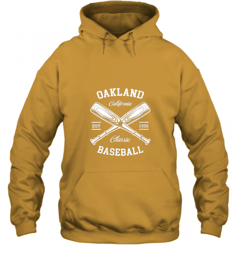 cyzm oakland baseball classic vintage california retro fans gift hoodie 23 front gold