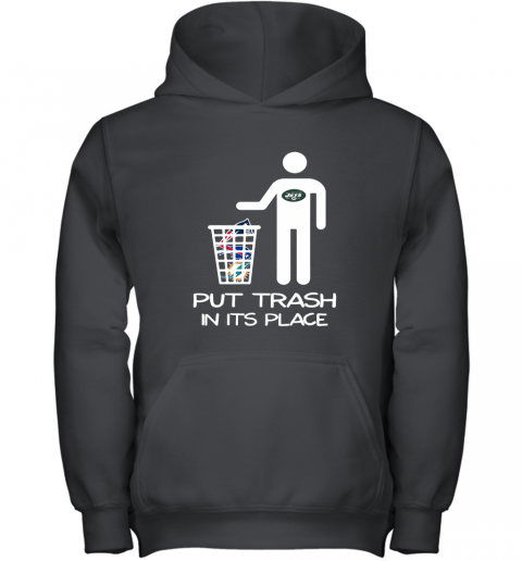 New York Jets Put Trash In Its Place Funny NFL Youth Hoodie