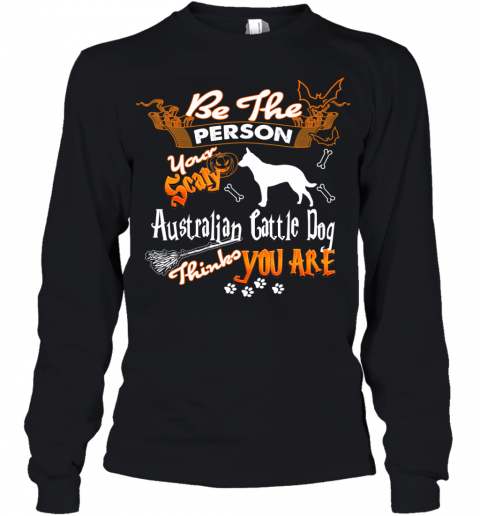 Halloween Costume Shirt Your Scary Australian Cattle Dog Youth Long Sleeve