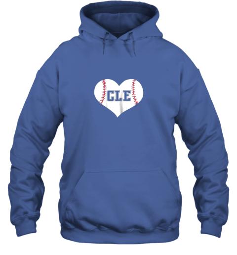 eta9 cleveland ohio baseball love heart cle gift jersey fan hoodie 23 front royal