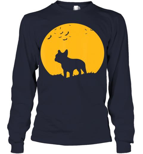 French Bulldog Moon, Halloween Inspired Design Youth Long Sleeve